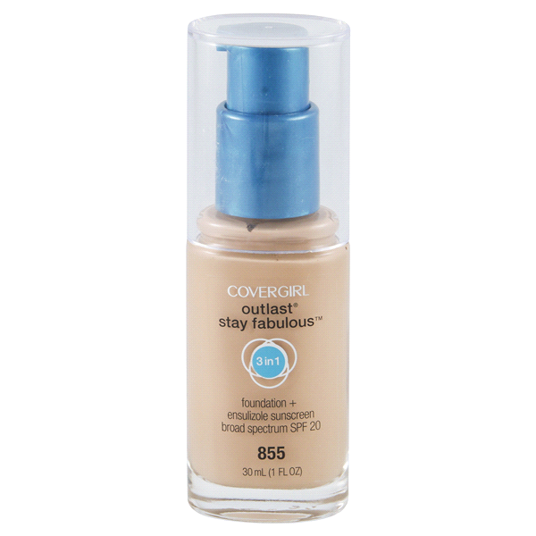 slide 1 of 1, Covergirl 3in1 Stay Fabulous Foundation Makeup Soft Honey,