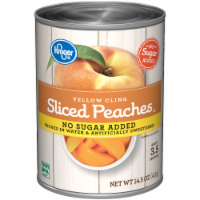 slide 1 of 1, Kroger Yellow Cling Sliced Peaches No Sugar Added,