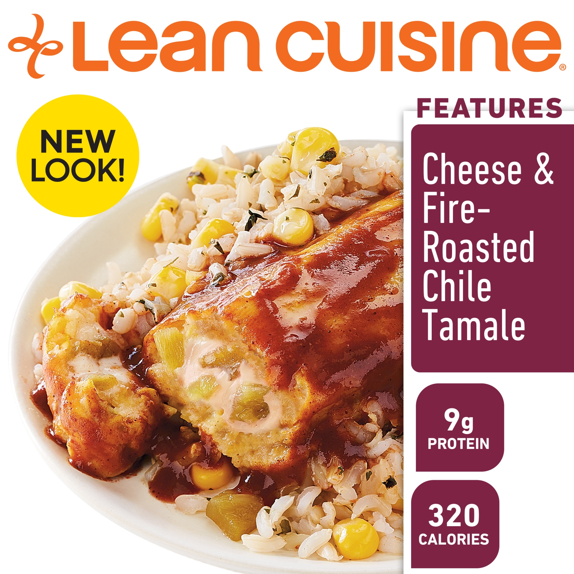 slide 2 of 9, Lean Cuisine Marketplace Cheese & Fire Roasted Chile Tamale,