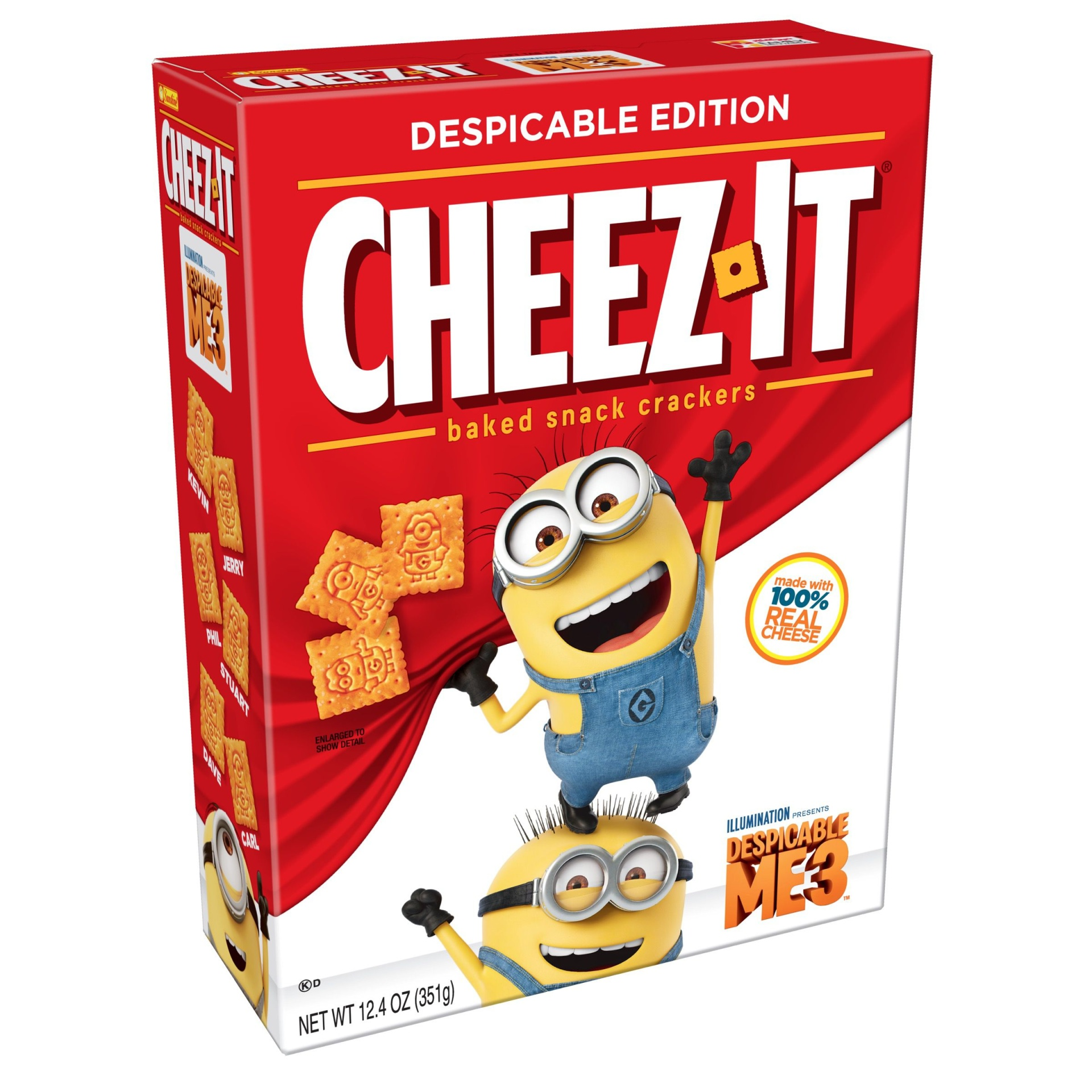 slide 1 of 8, Cheez-It Despicable Me 3 Baked Snack Crackers,