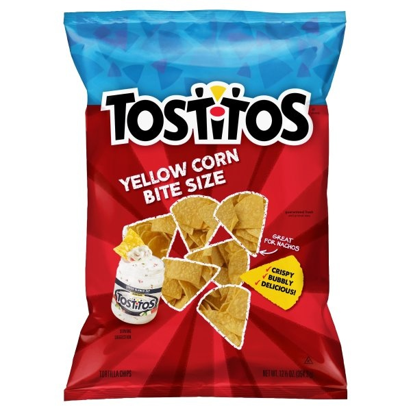 slide 1 of 3, Tostitos Yellow Corn Bite Size Tortilla Chips,