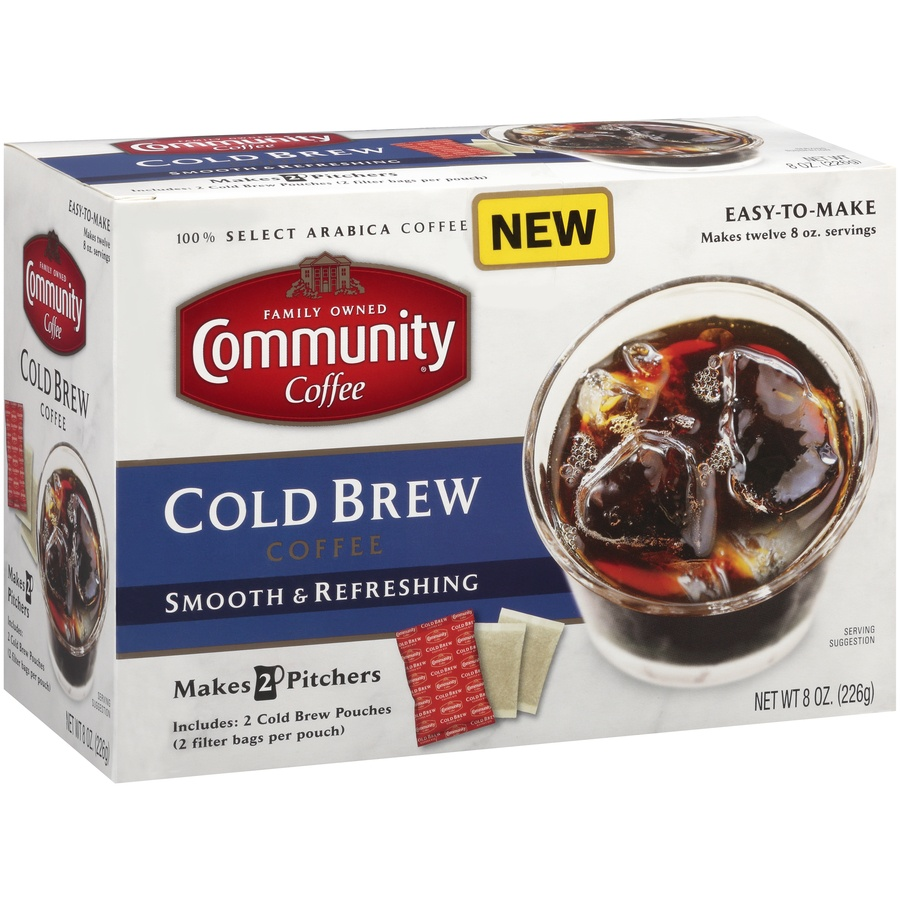 slide 2 of 7, Community Coffee Cold Brew Coffee 8 Oz. Box,