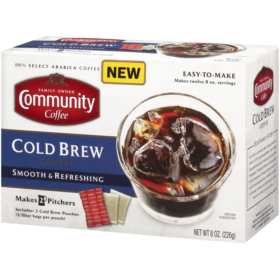 slide 3 of 7, Community Coffee Cold Brew Coffee 8 Oz. Box,