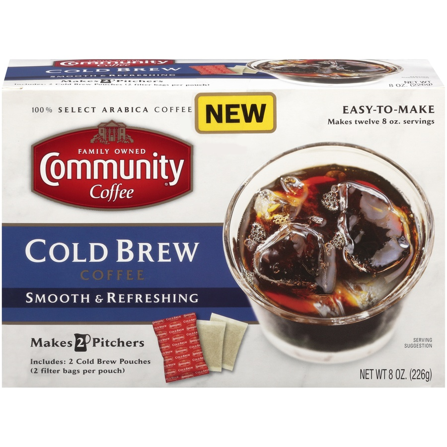 slide 1 of 7, Community Coffee Cold Brew Coffee 8 Oz. Box,
