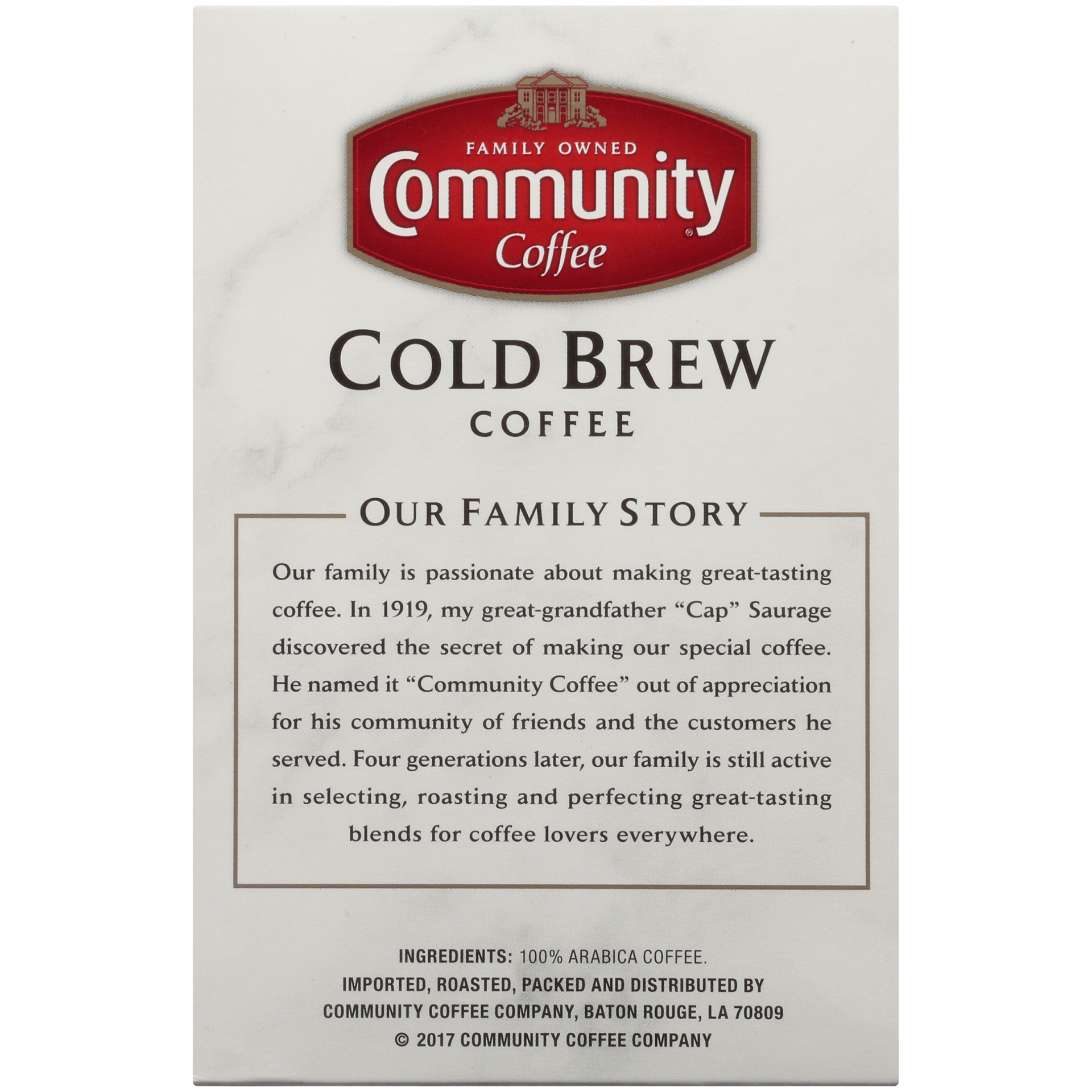 slide 5 of 7, Community Coffee Cold Brew Coffee 8 Oz. Box,