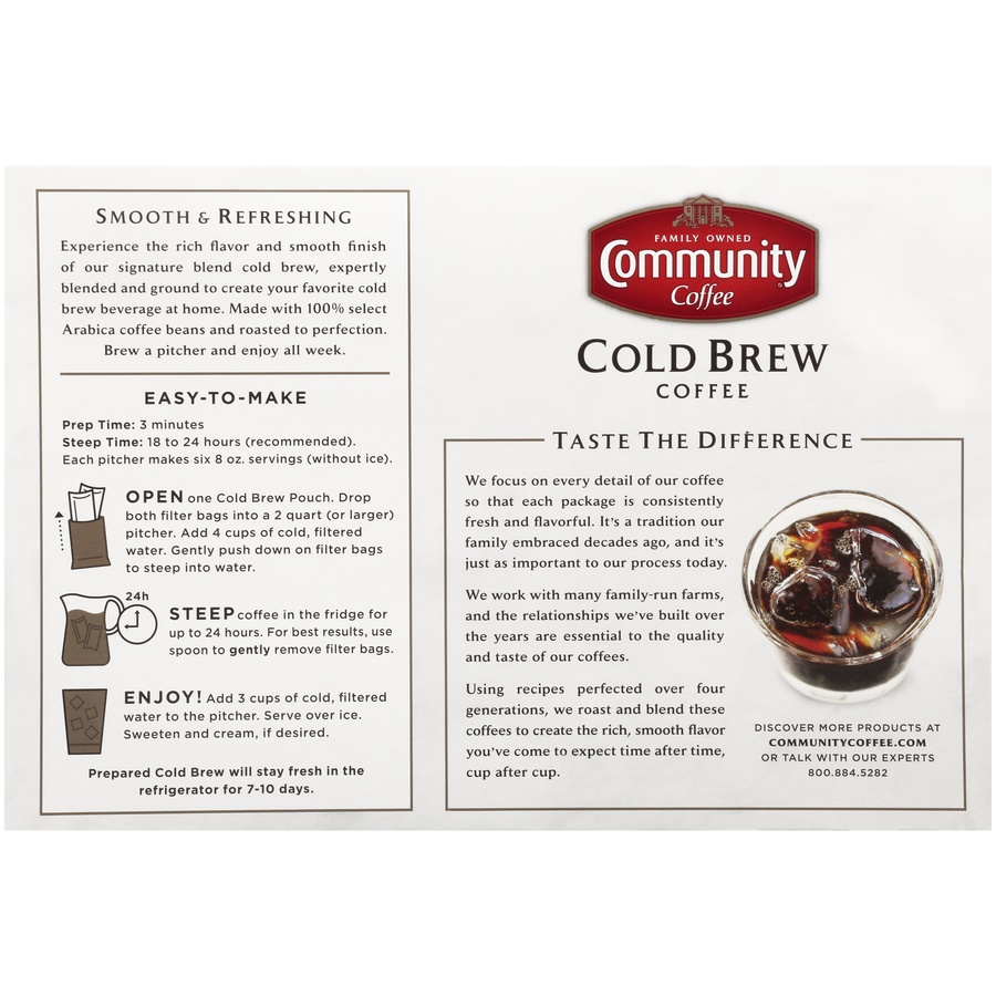 slide 6 of 7, Community Coffee Cold Brew Coffee 8 Oz. Box,
