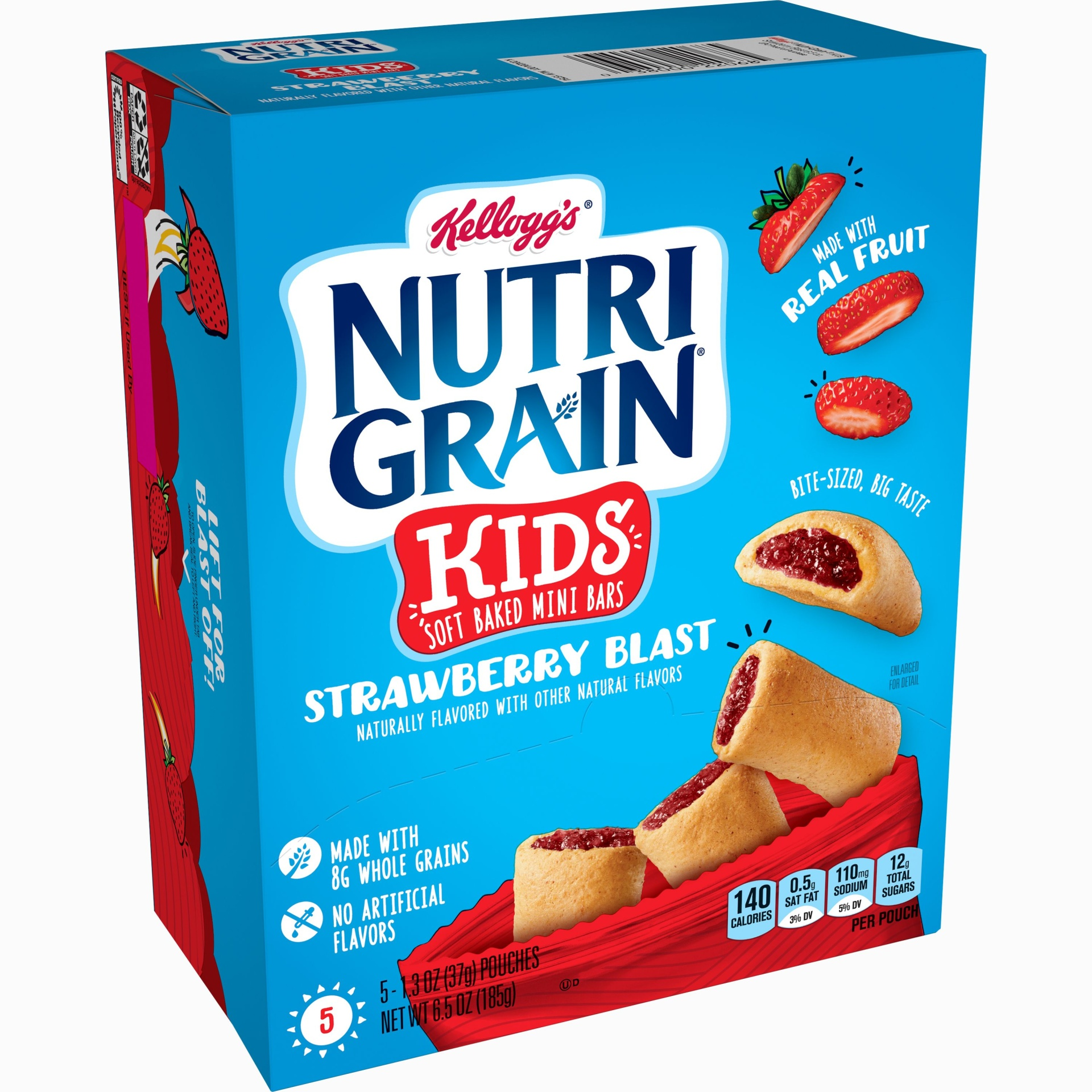slide 1 of 2, Nutrigrain Kids Strawberry Mini Bites,