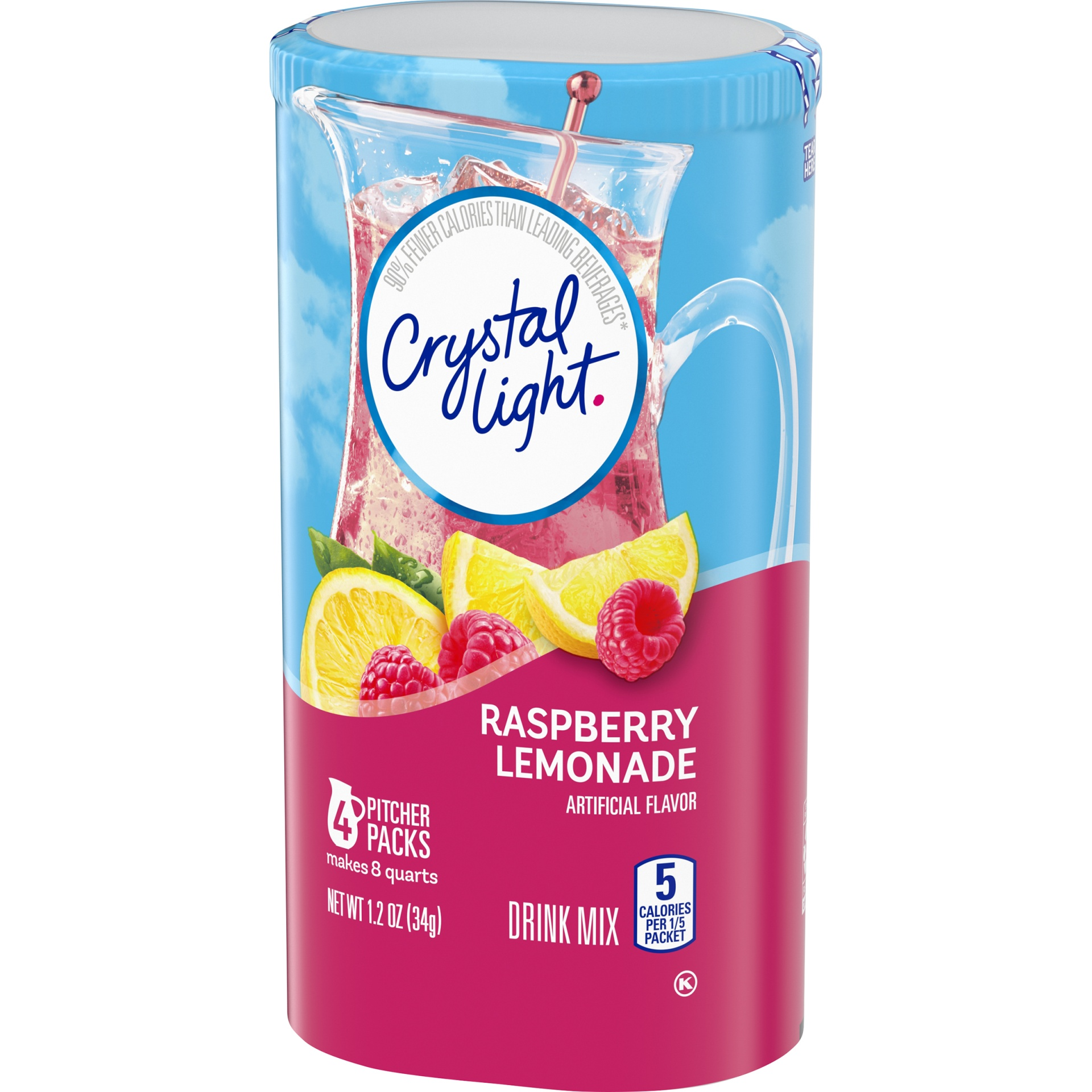 slide 7 of 10, Crystal Light Raspberry Lemonade Drink Mix,
