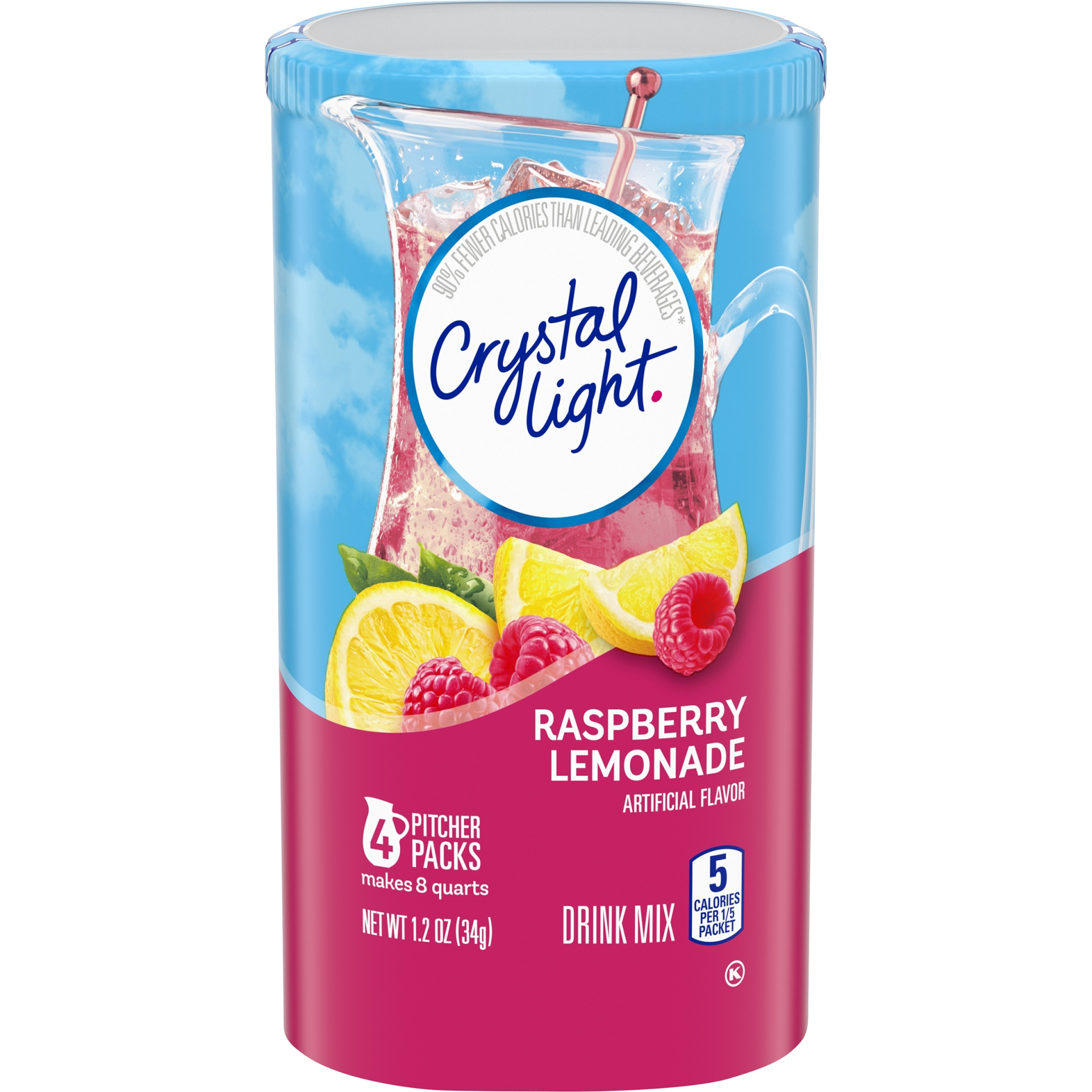 slide 1 of 10, Crystal Light Raspberry Lemonade Drink Mix,