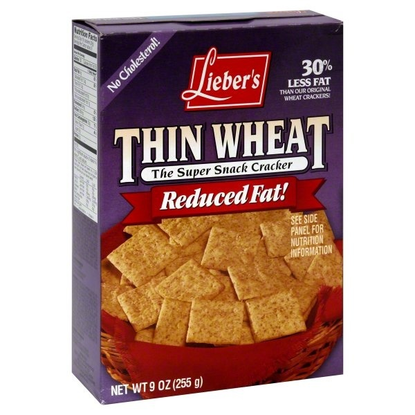 slide 1 of 1, Lieber's Thin Wheat Reduced Fat Snack Crackers,