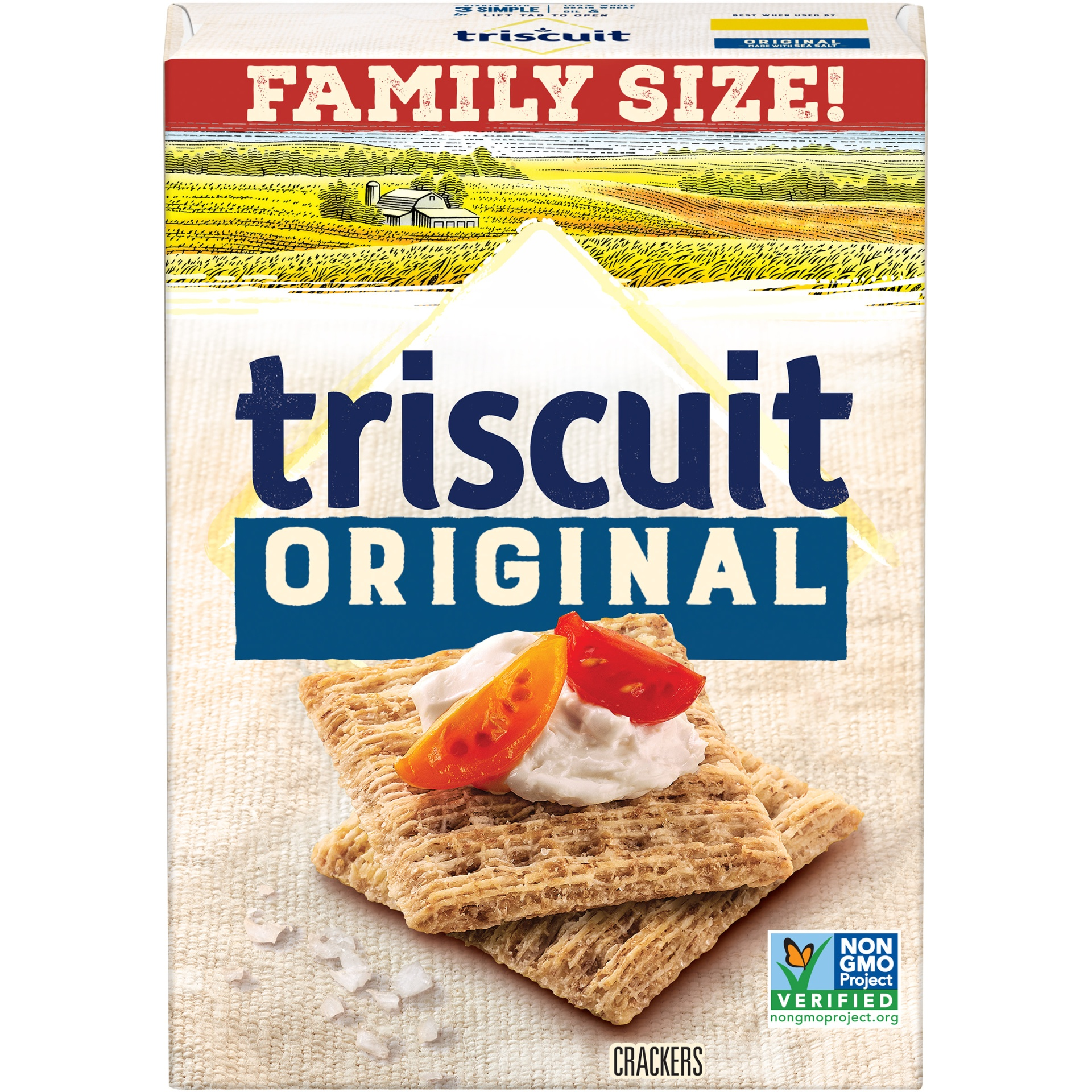 slide 1 of 9, Triscuit Crackers Original Family Size,