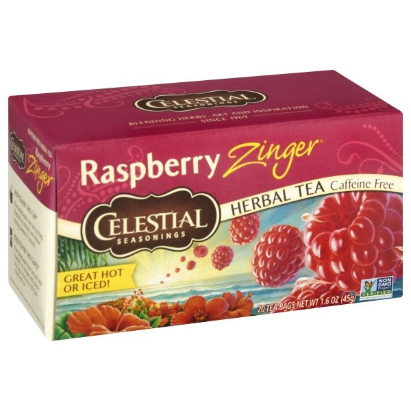 slide 1 of 6, Celestial Seasonings Tea - Raspberry Zinger Herb,