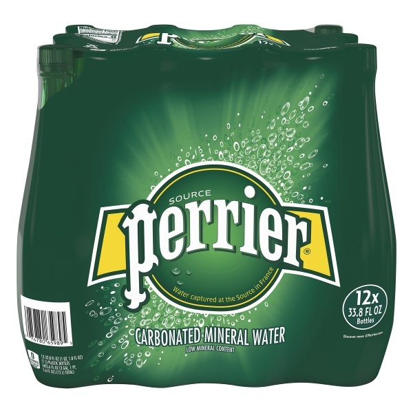 slide 1 of 2, Perrier Sparkling Natural Mineral Water 1Pk,