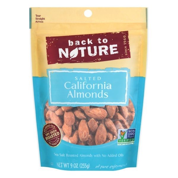 slide 1 of 1, Back to Nature California Almonds,