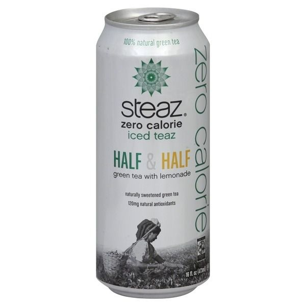 slide 1 of 1, Steaz Iced Teaz Zero Calorie Citrus Green Tea,