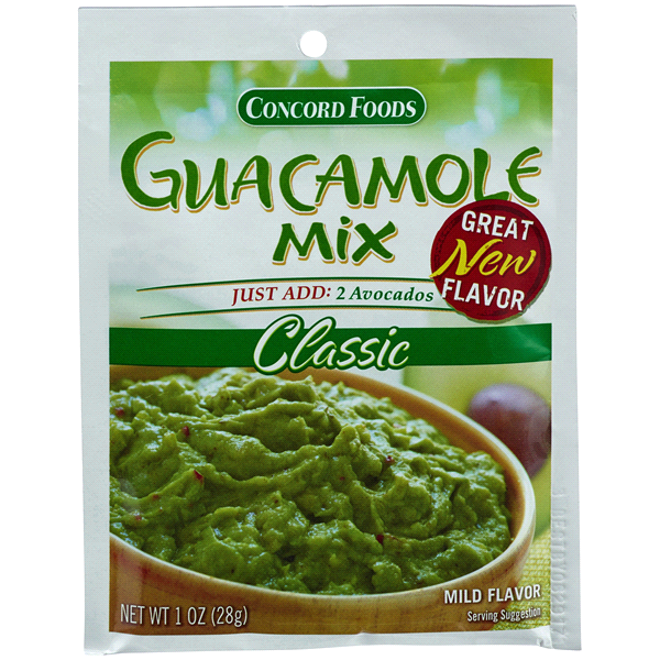 slide 1 of 1, Concord Foods Classic Guacamole Mix,