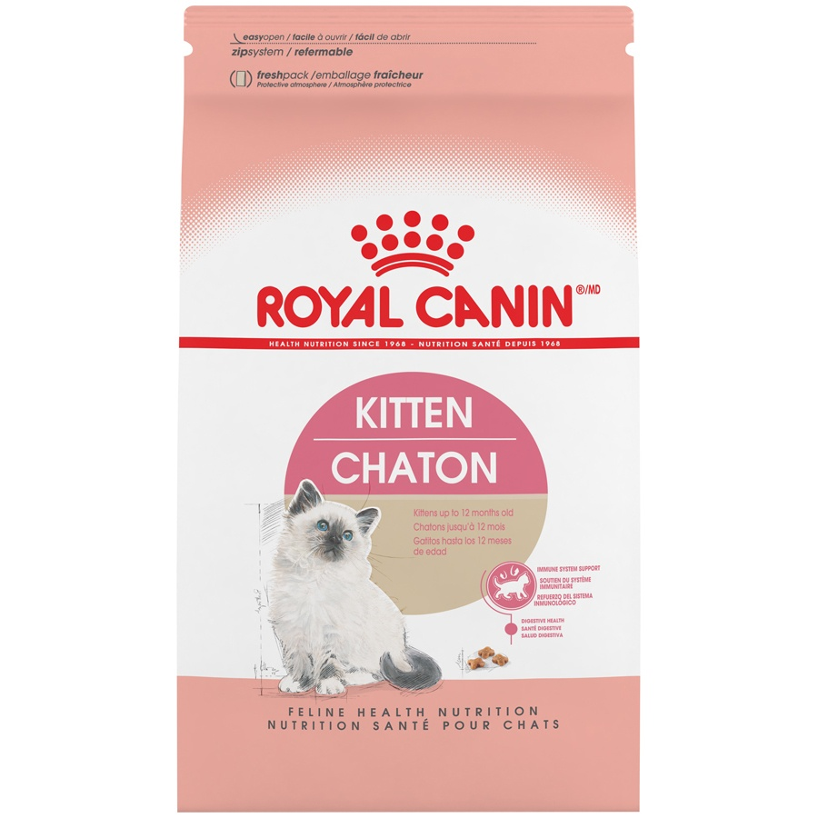 slide 1 of 9, Royal Canin Feline Health Nutrition Dry Kitten Food,