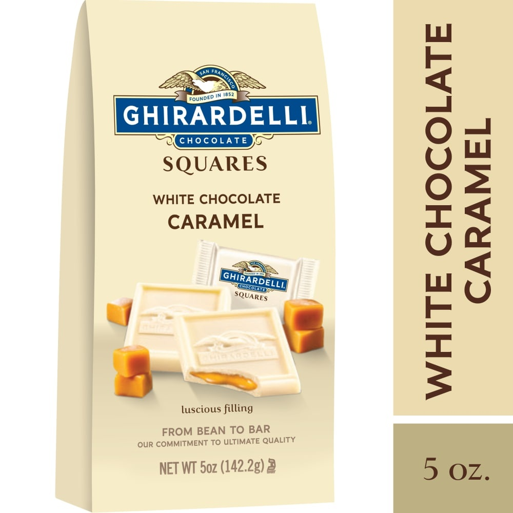 slide 1 of 1, Ghirardelli White Chocolate With Caramel Filling Squares,