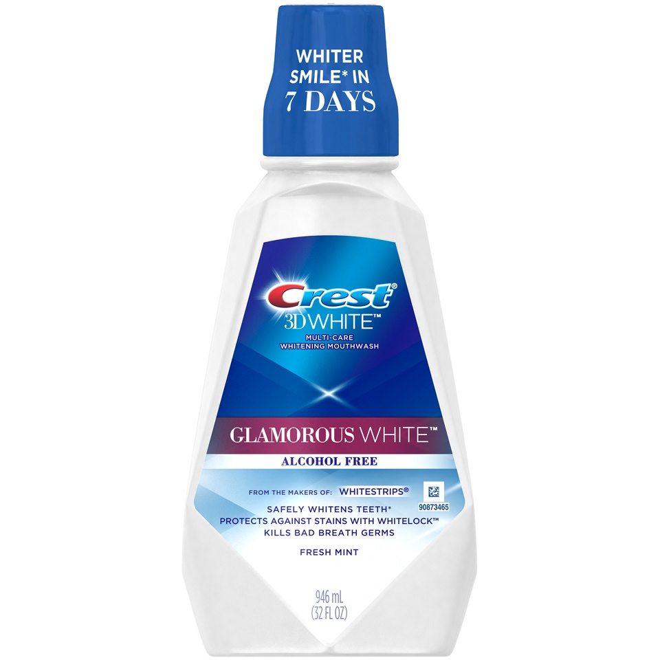 slide 1 of 4, Crest 3D White Glamorous White Mouthwash,