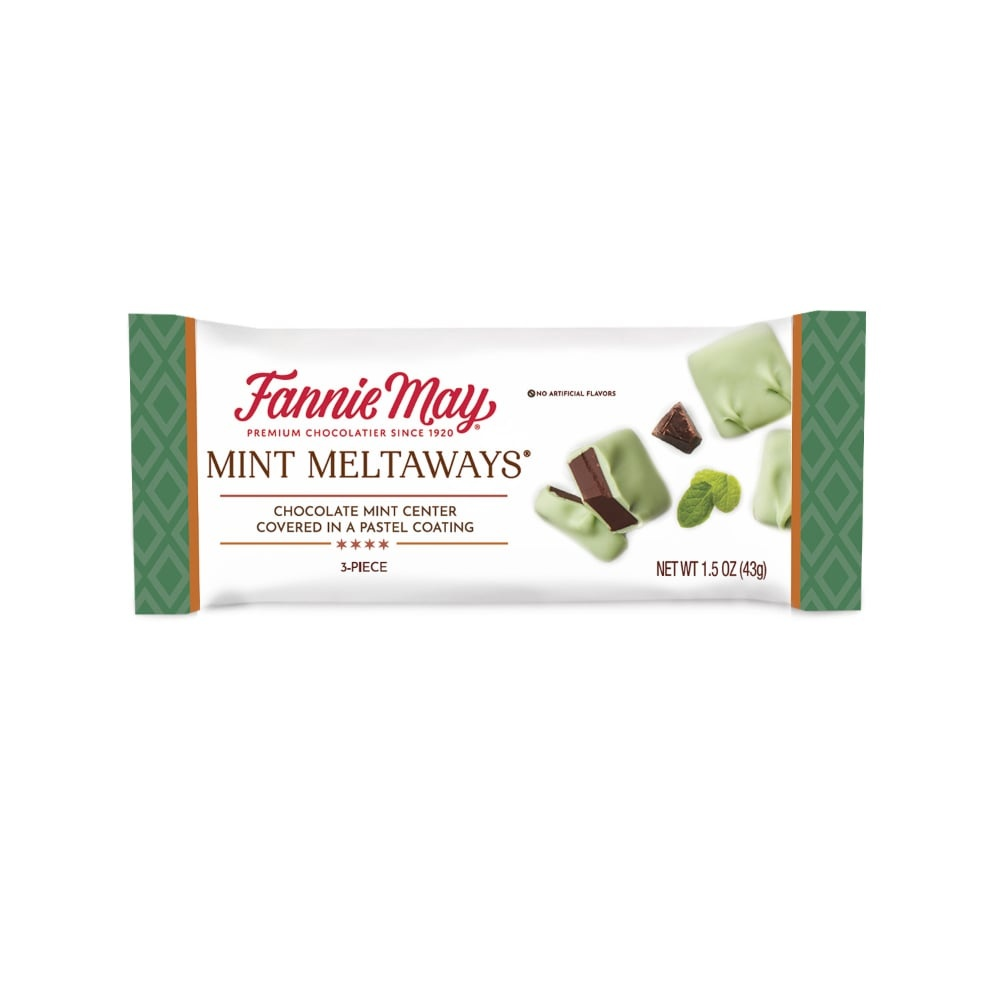 slide 1 of 1, Fannie May Mint Meltaway Candy,