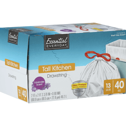 slide 1 of 1, Essential Everyday Tall Kitchen Bag Lavender 13 Gallon,