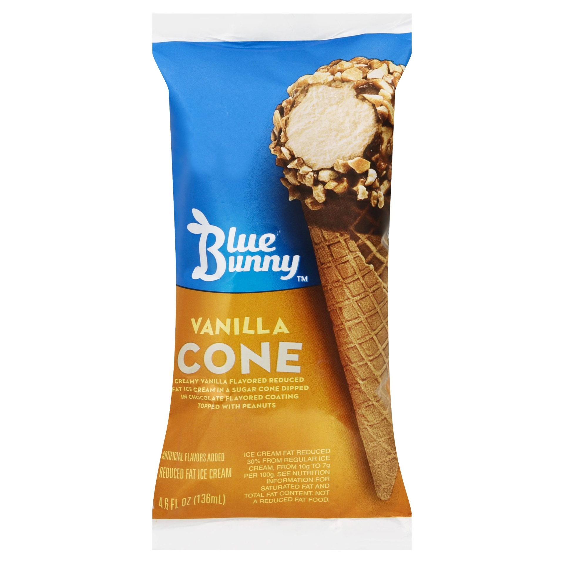 slide 1 of 3, Blue Bunny Vanilla Ice Cream Cone,