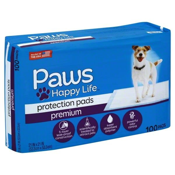 slide 1 of 1, Paws Happy Life Basic Training Pads,