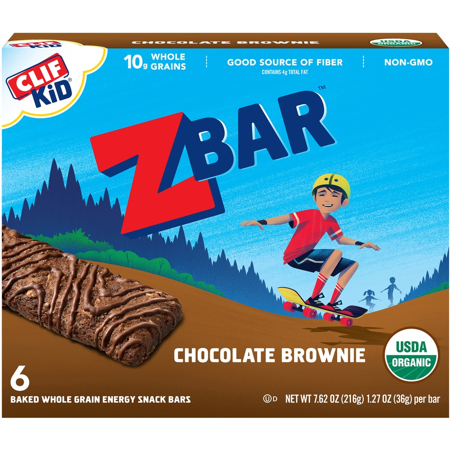 slide 2 of 9, CLIF Kid ZBAR Organic Chocolate Brownie,