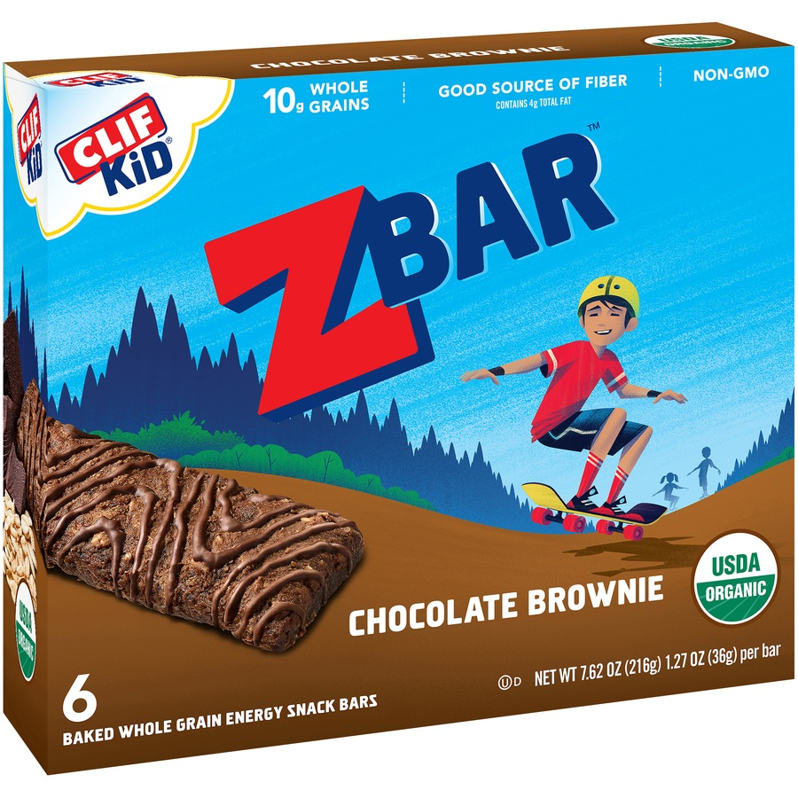 slide 3 of 9, CLIF Kid ZBAR Organic Chocolate Brownie,