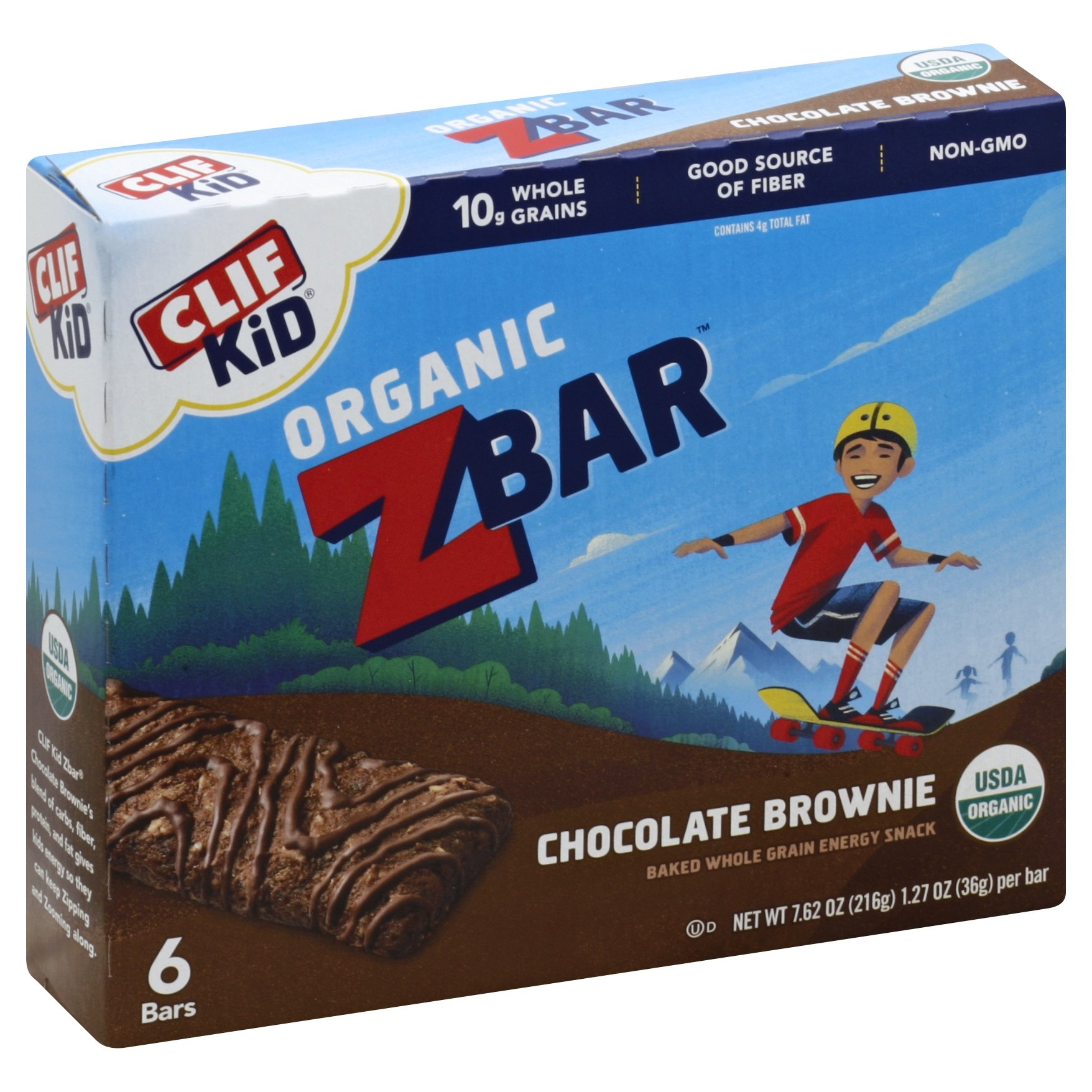 slide 1 of 9, CLIF Kid ZBAR Organic Chocolate Brownie,