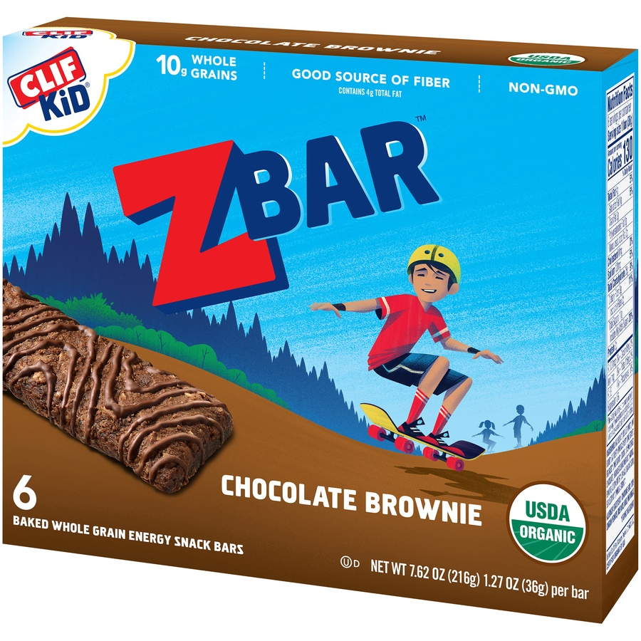 slide 4 of 9, CLIF Kid ZBAR Organic Chocolate Brownie,