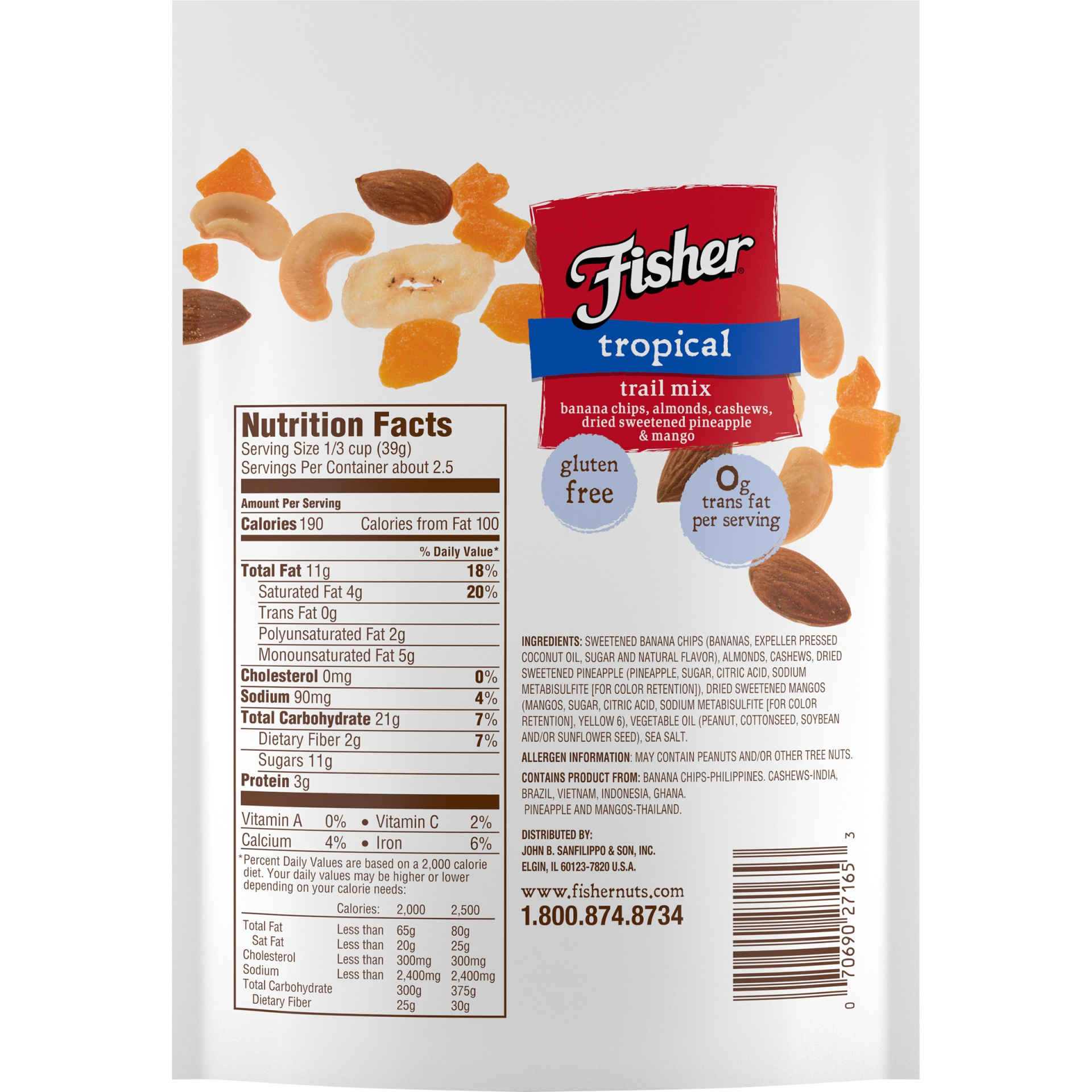 slide 6 of 8, Fisher Tropical Trail Mix,