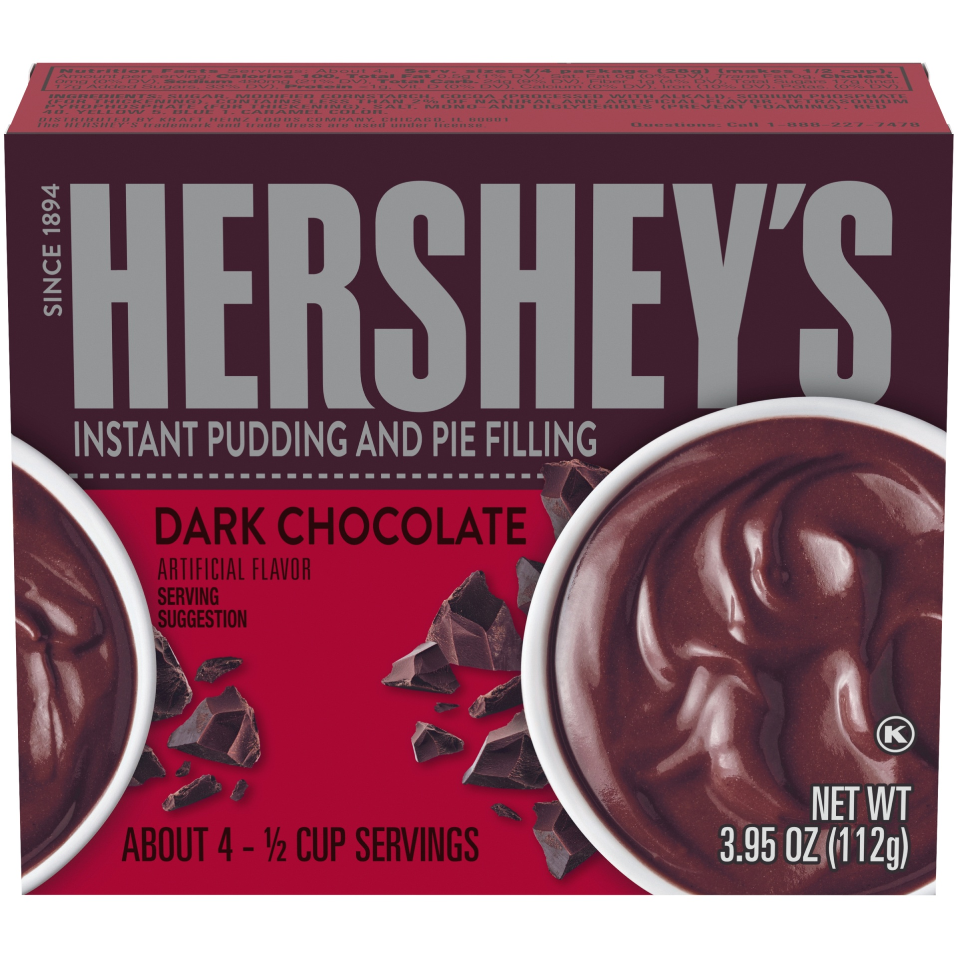 slide 1 of 6, Hershey's Special Dark Chocolate Pudding,