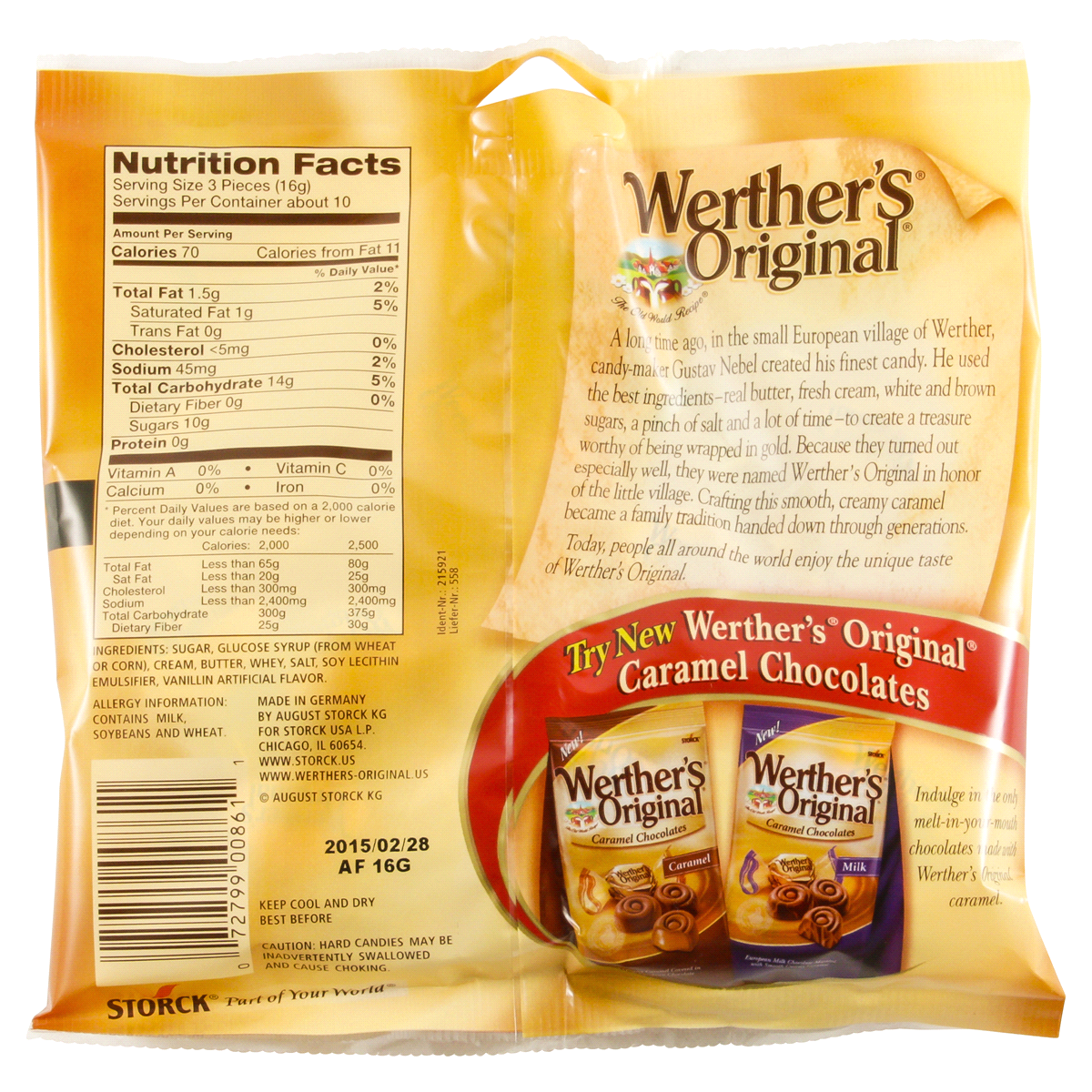 slide 2 of 2, Werther's Original Hard Candies,