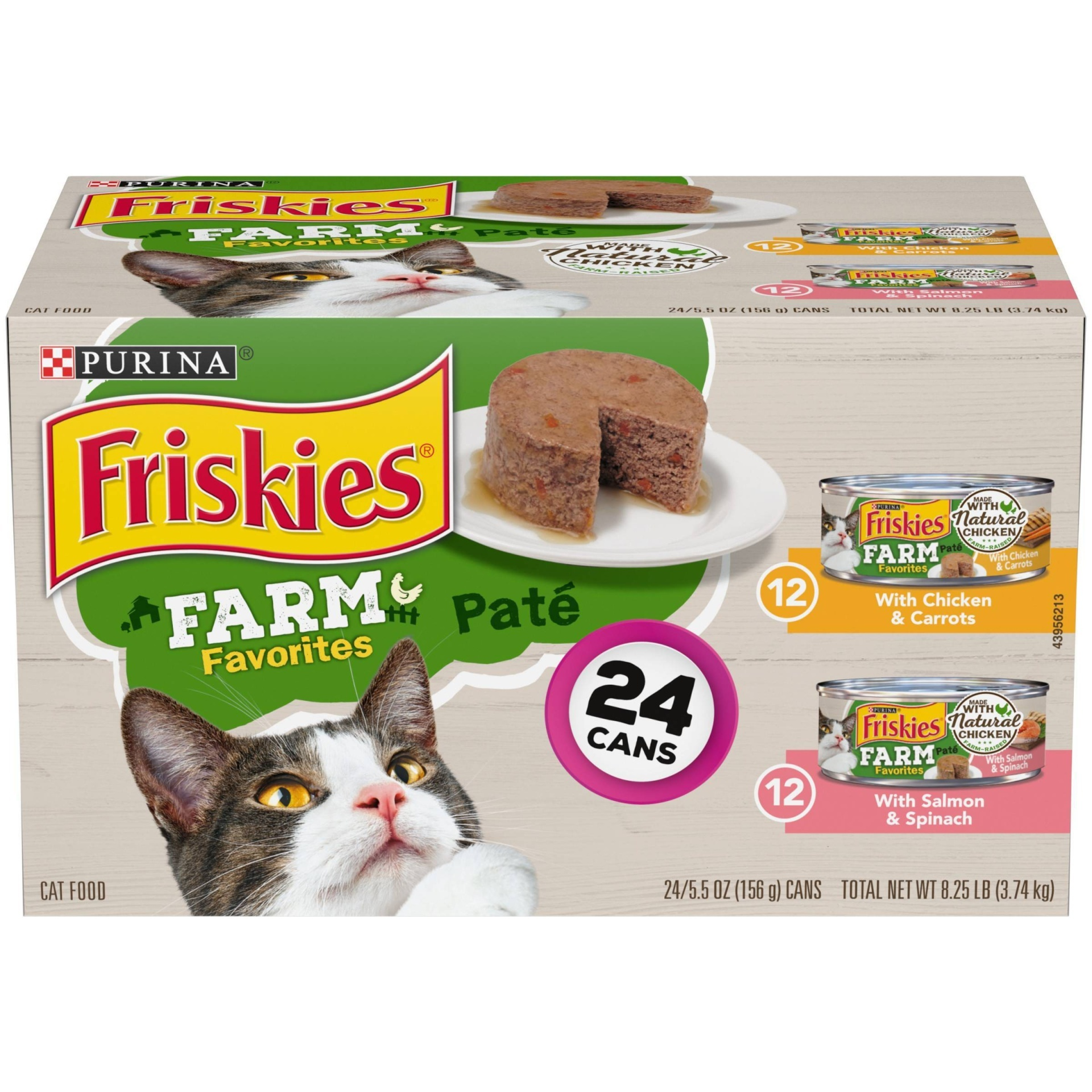 slide 1 of 5, Friskies Farm Chicken and Seafood Wet Cat Food,