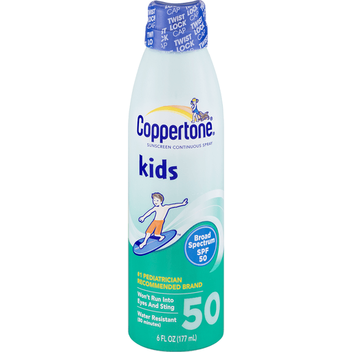 slide 2 of 9, Coppertone Kids Broad Spectrum SPF 50 Sunscreen Continuous Spray,