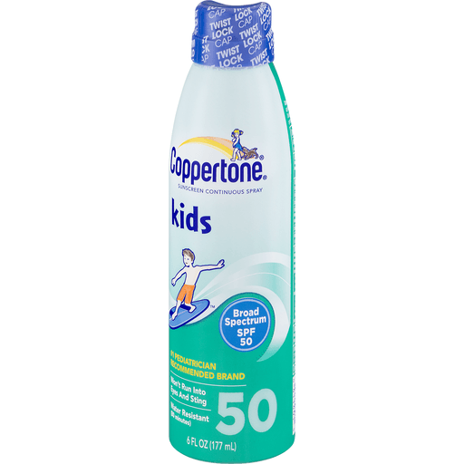 slide 3 of 9, Coppertone Kids Broad Spectrum SPF 50 Sunscreen Continuous Spray,