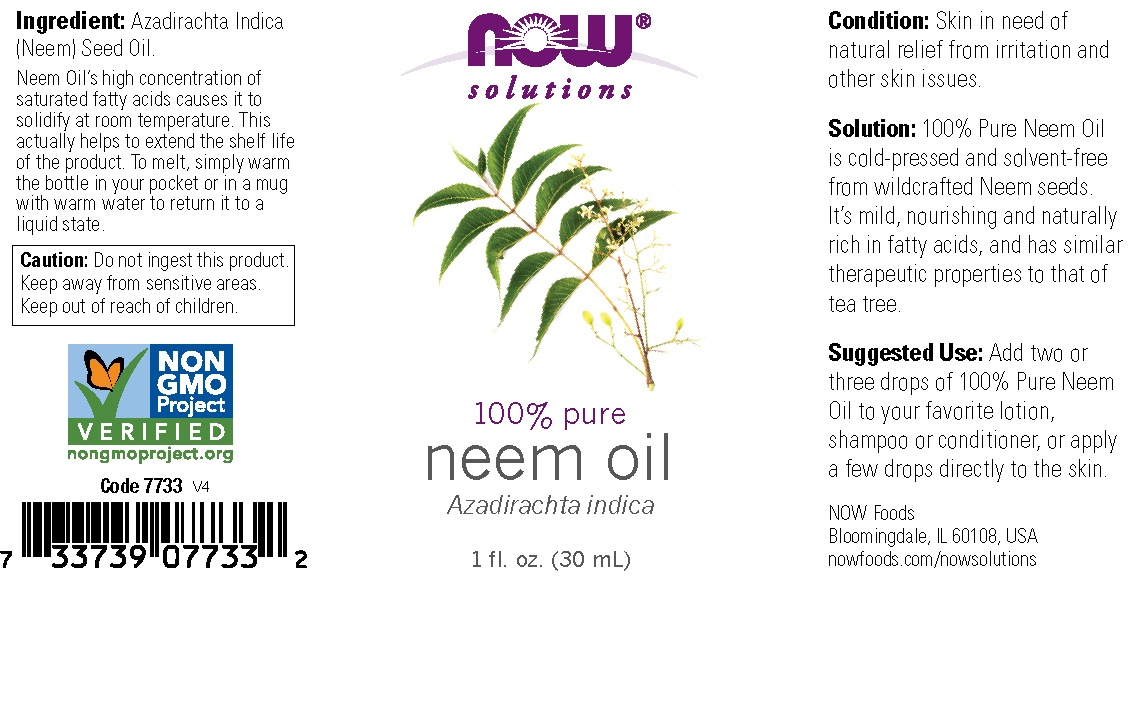 slide 2 of 2, NOW Solutions 100% Pure Neem Oil,