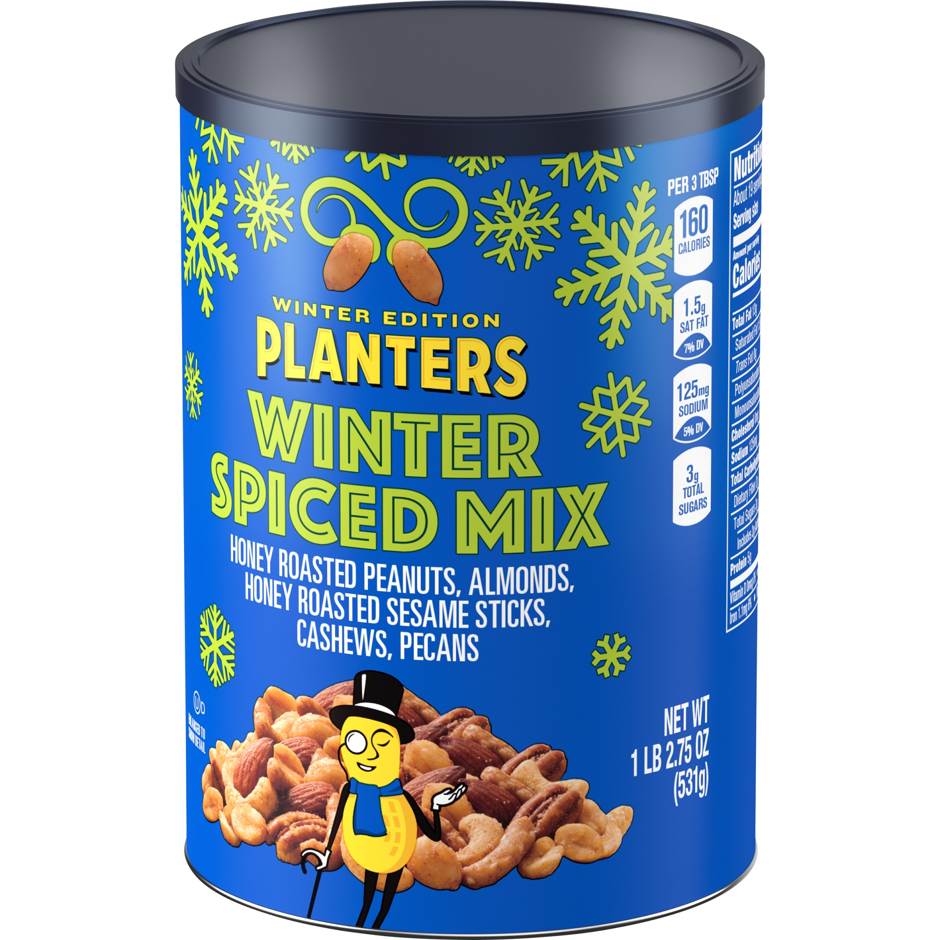 slide 3 of 6, Planters Winter Spiced Mix,