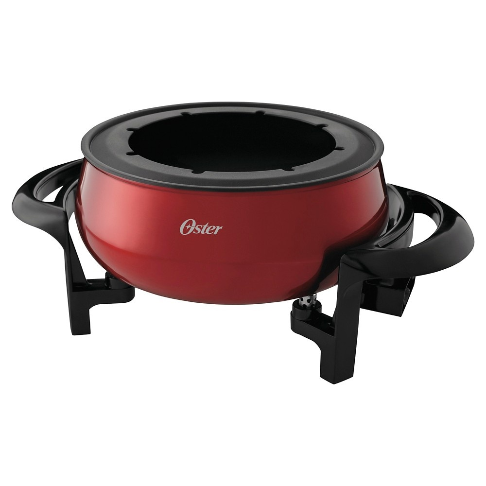 slide 3 of 3, Oster Duraceramic Fondue Pot - Red,