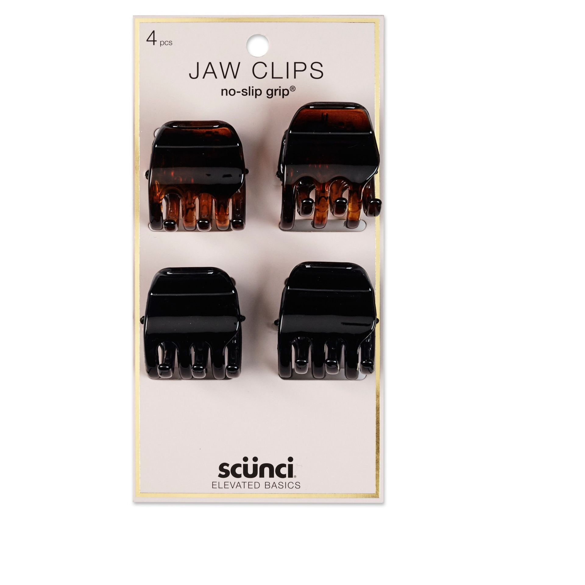 slide 1 of 3, scunci 3cm No Slip Jaw Clips,