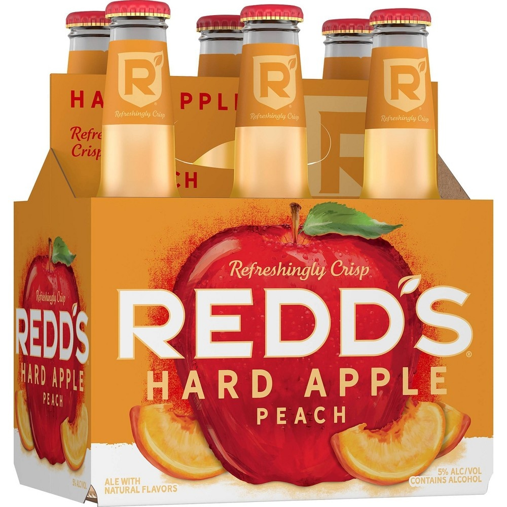 slide 3 of 4, Redd's Hard Apple Peach Ale Beer / Bottles,