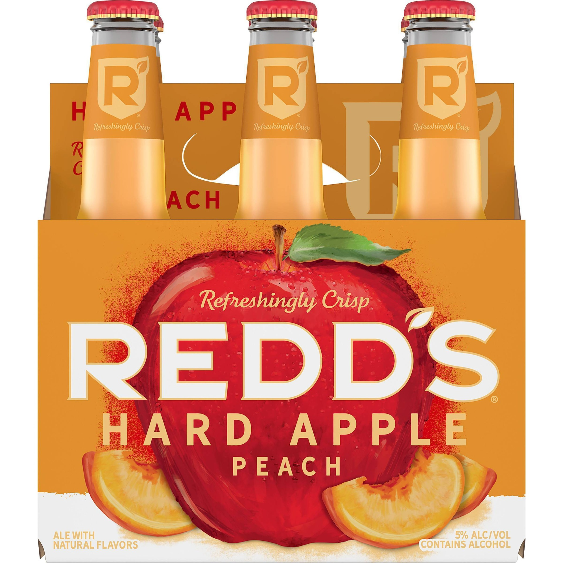 slide 1 of 4, Redd's Hard Apple Peach Ale Beer / Bottles,