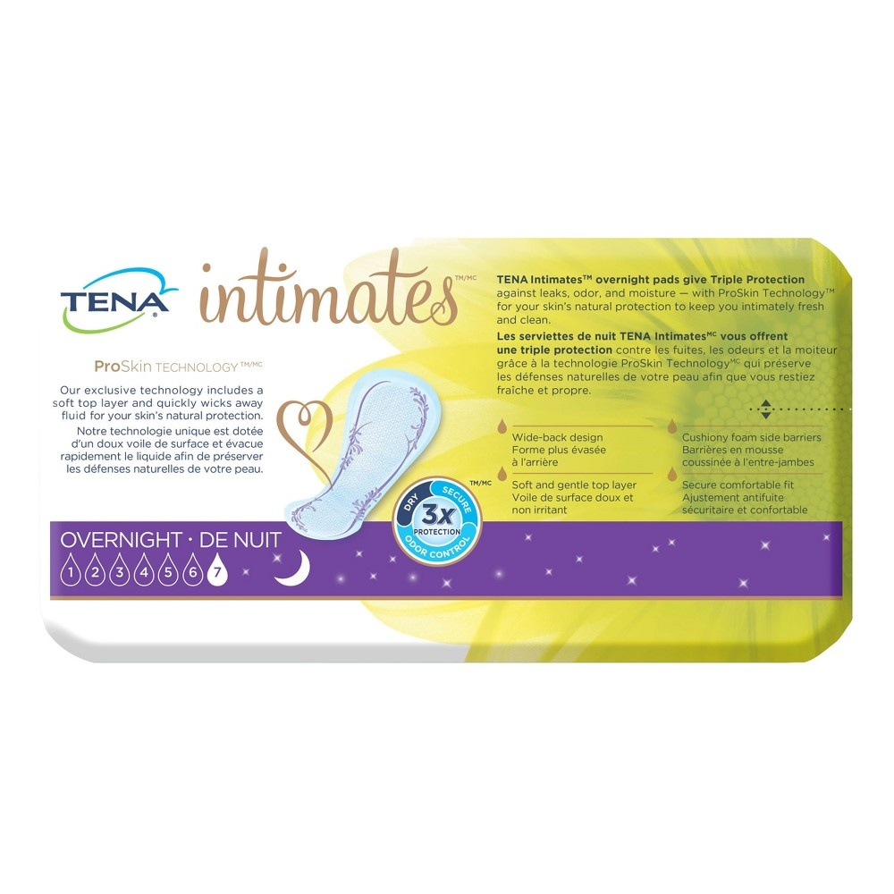 slide 4 of 5, Tena Incontinence Pads - Overnight,