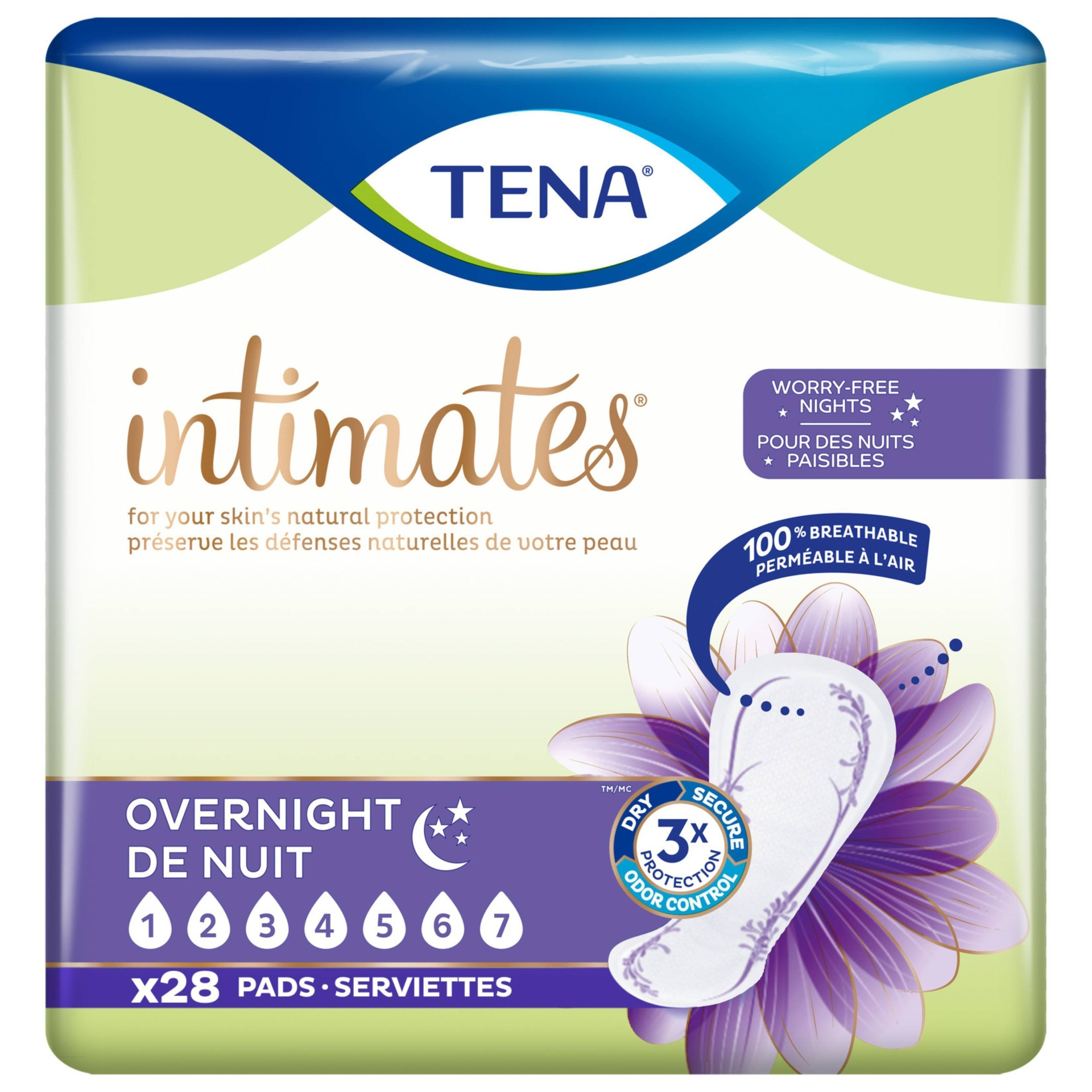 slide 1 of 5, Tena Incontinence Pads - Overnight,