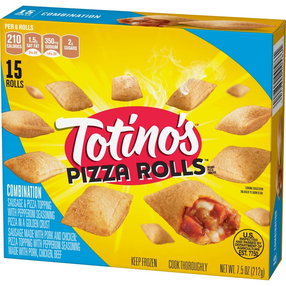 slide 2 of 3, Totino's Pizza Rolls Combination,