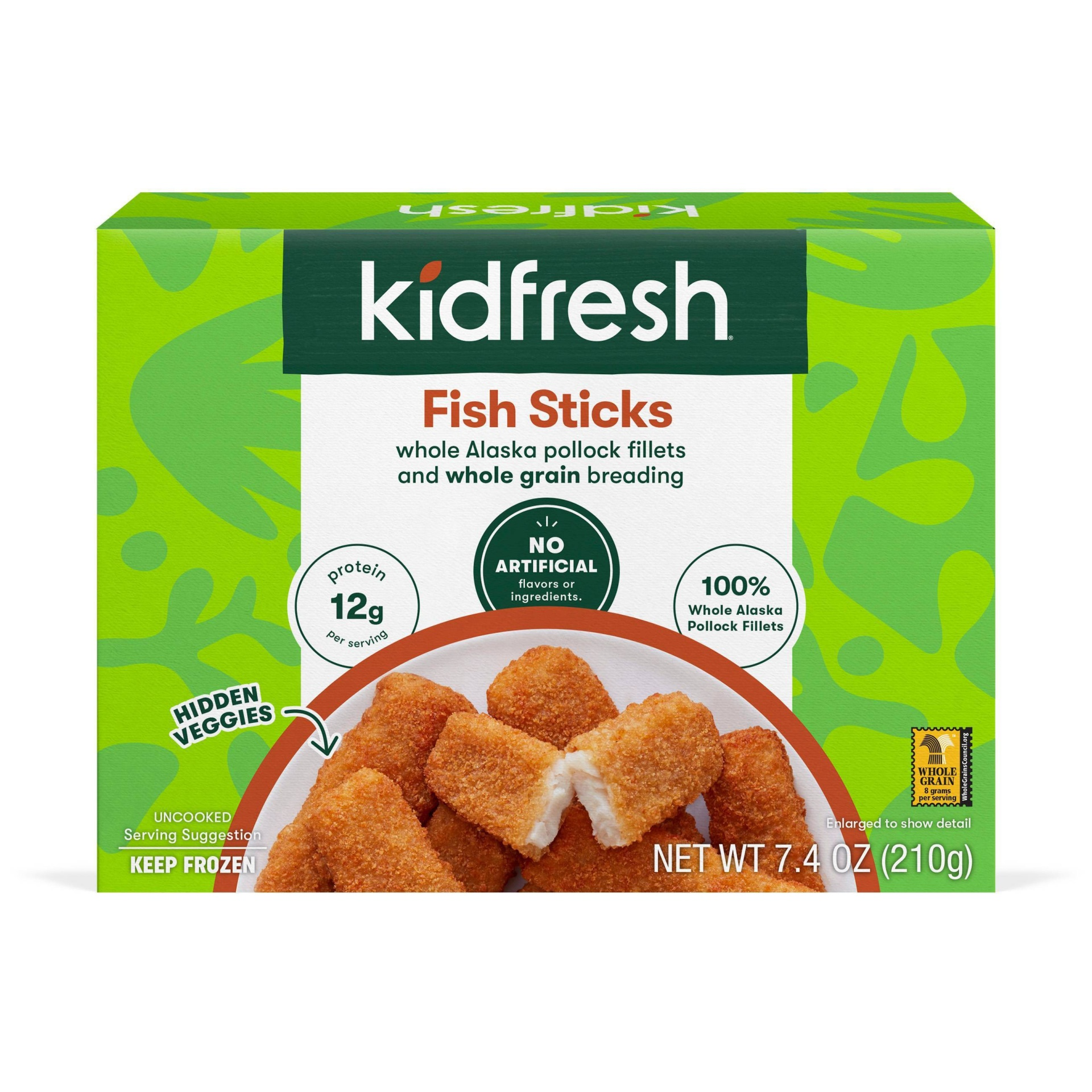 slide 1 of 3, Kidfresh Fun-Tastic Fish Sticks,
