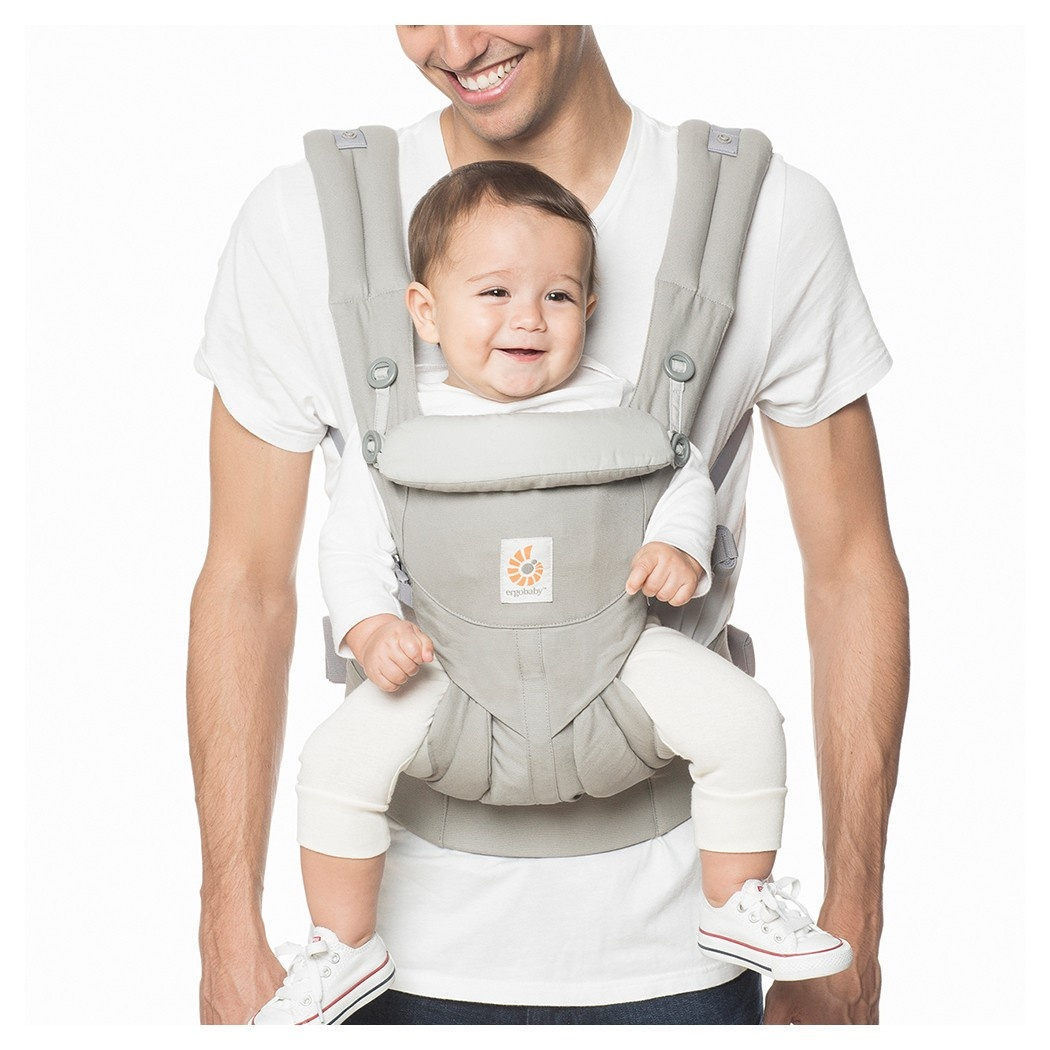 slide 1 of 5, Ergobaby Omni 360 All Carry Positions Ergonomic Baby Carrier - Pearl Gray,