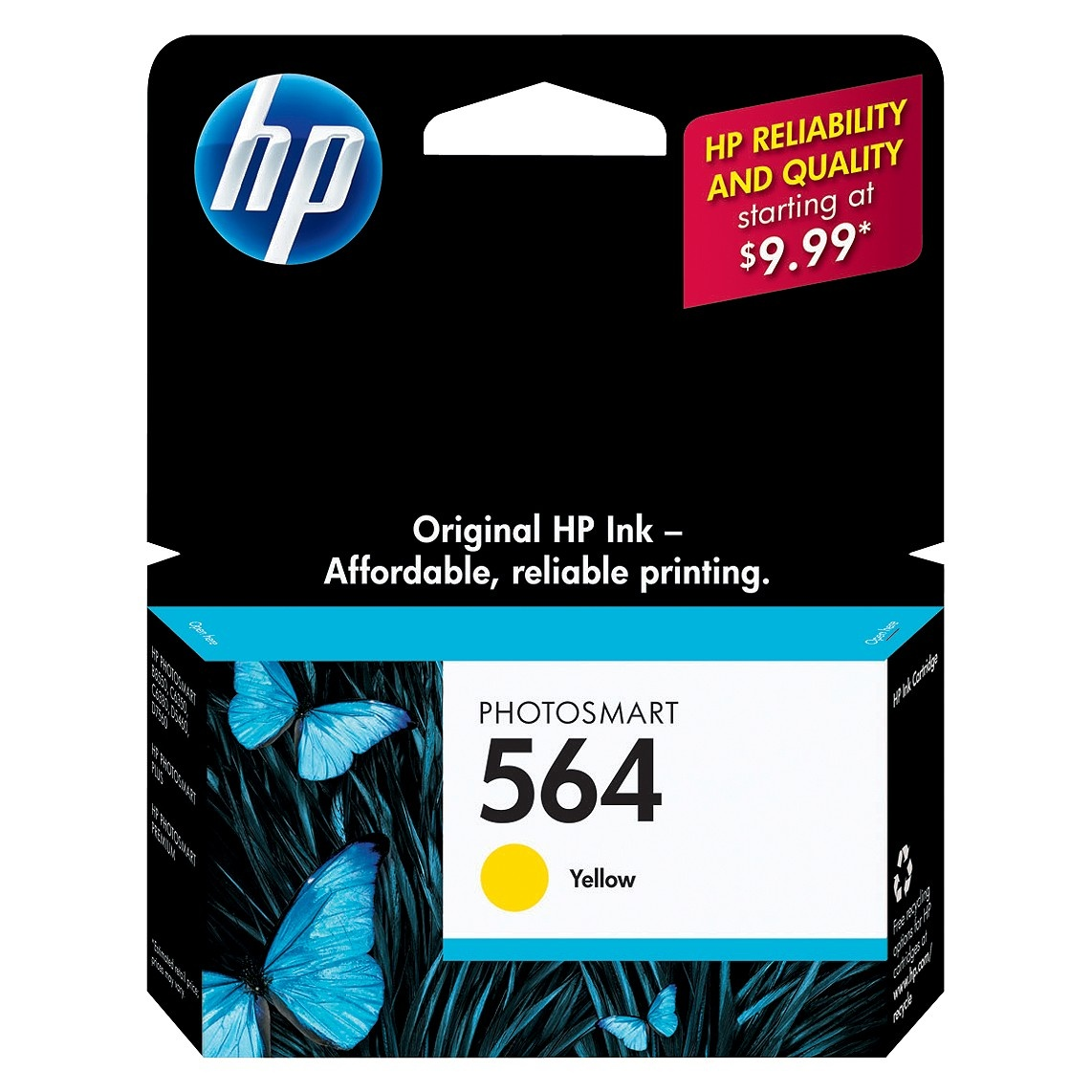 slide 1 of 2, HP Inc. HP 564 Photosmart Single Ink Cartridge - Yellow (CB320WN#140),