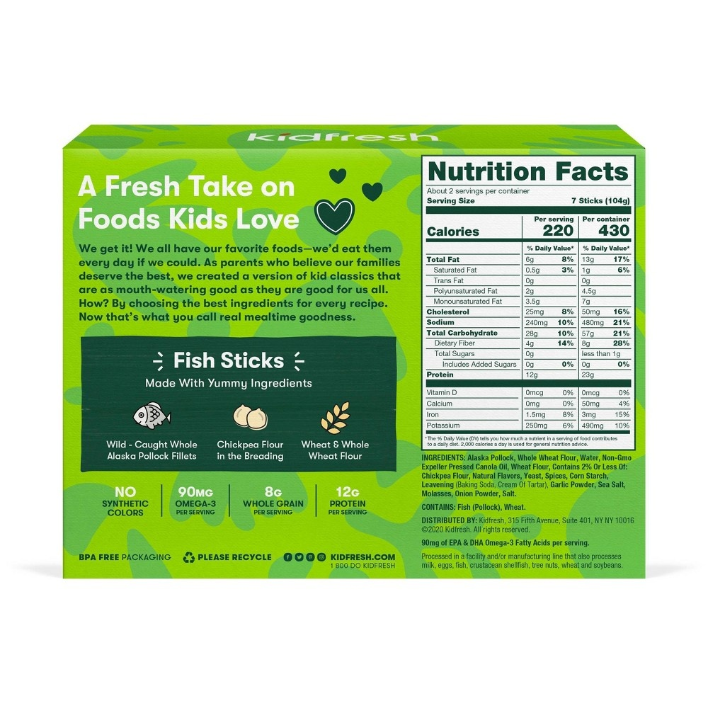 slide 2 of 3, Kidfresh Fun-Tastic Fish Sticks,